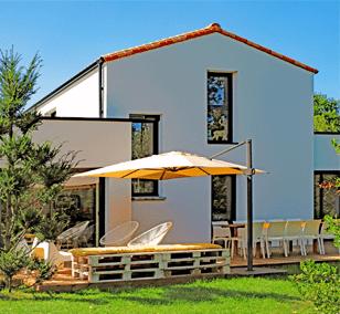 Maison contemporaine construite à Sautron