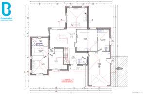 Plan maison Berthelot Constructions avec bureau à Treillières (44)