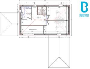 Plan maison Berthelot Constructions avec bureau mezzanine à Saint-Léger-les-Vignes (44)