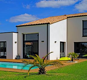 Maison contemporaine construite à Vertou