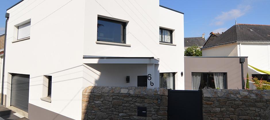 Maison de ville de 130m² construite à Nantes