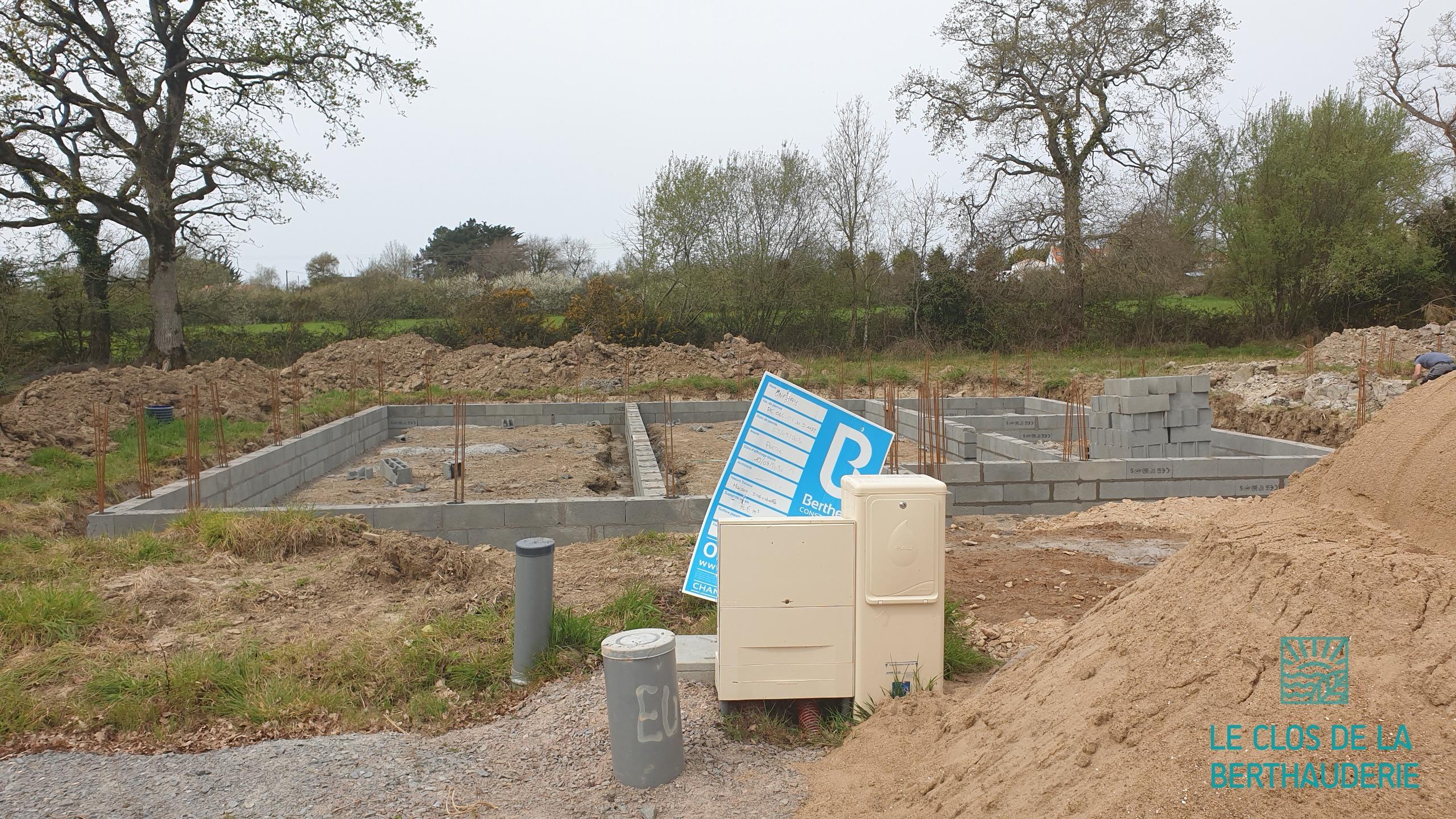 Démarrage de la construction des premières maisons au Clos de la Berthauderie à Pornic