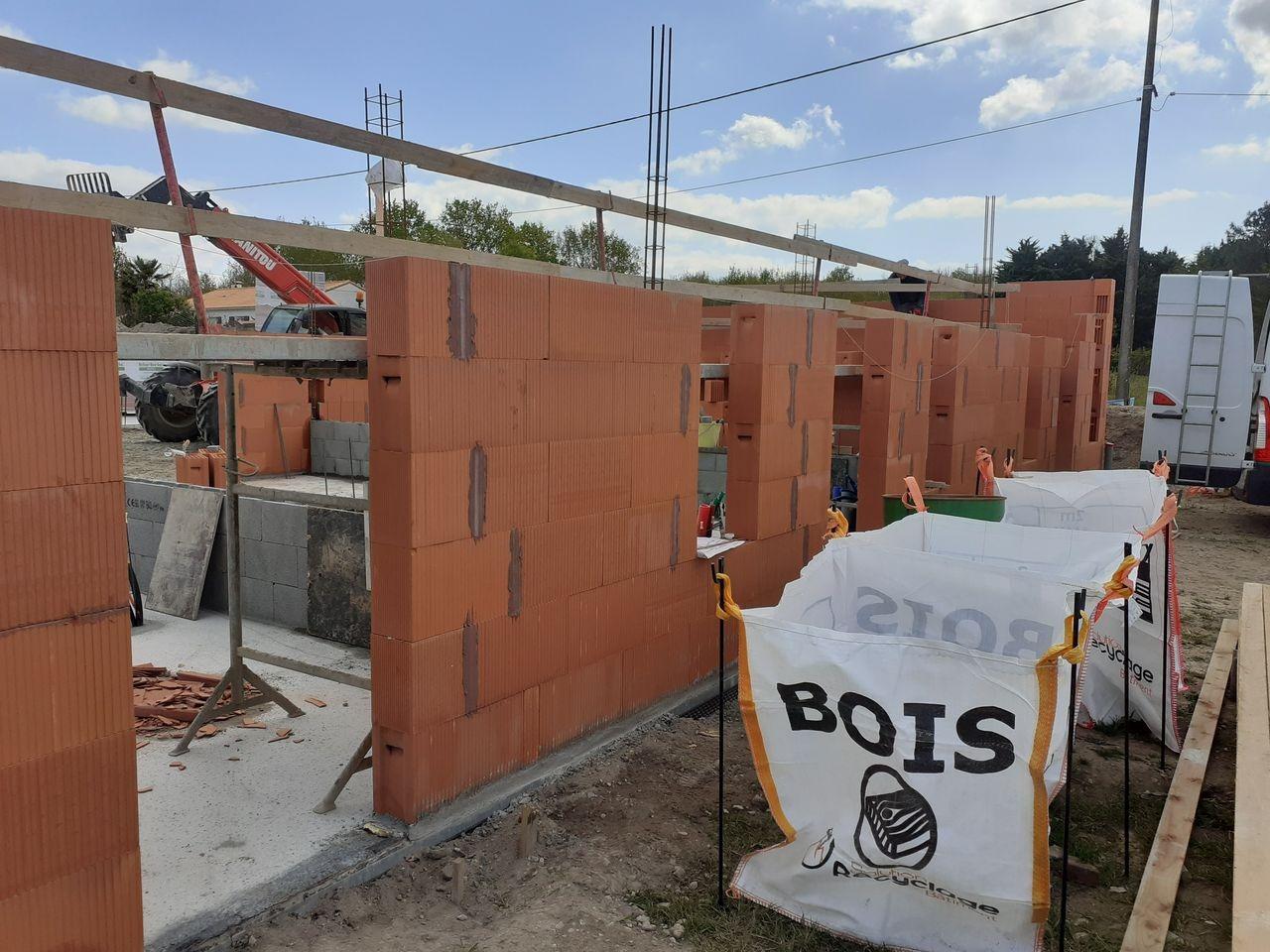 Les Maisons d'Augustin en construction à Chaumes-en-Retz (44) par Berthelot Constructions